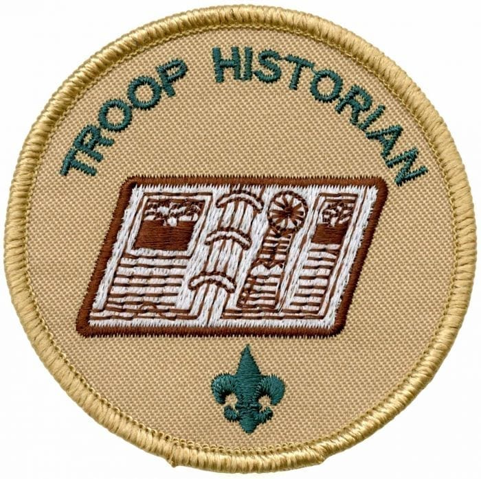 Troop Historian patch - BSA CAC Scout Shop